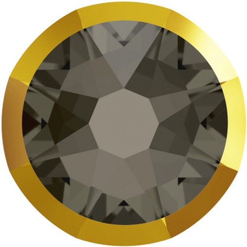 Swarovski 2088 34ss (~7.2mm)  Flatback Black Diamond Doradoz