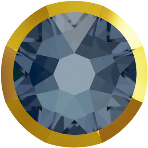 Swarovski 2088 34ss (~7.2mm)  Flatback Denim Blue Doradoz