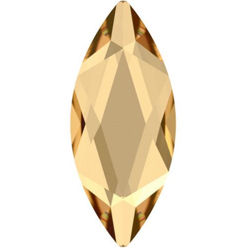 Swarovski 2201 8mm Marquise Flatback Crystal Golden Shadow Hot Fix