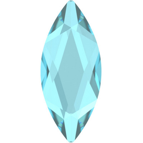 Swarovski 2201 14mm Marquise Flatback Aquamarine Hot Fix
