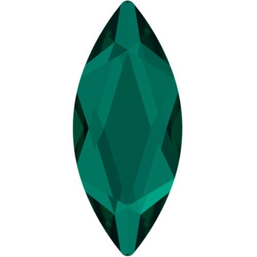 Swarovski 2201 14mm Marquise Flatback Emerald