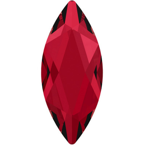 Swarovski 2201 14mm Marquise Flatback Scarlet Hot Fix