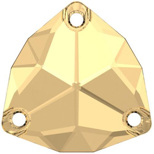 Swarovski 3272 20mm Trilliant Sew On Stones Crystal Golden Shadow