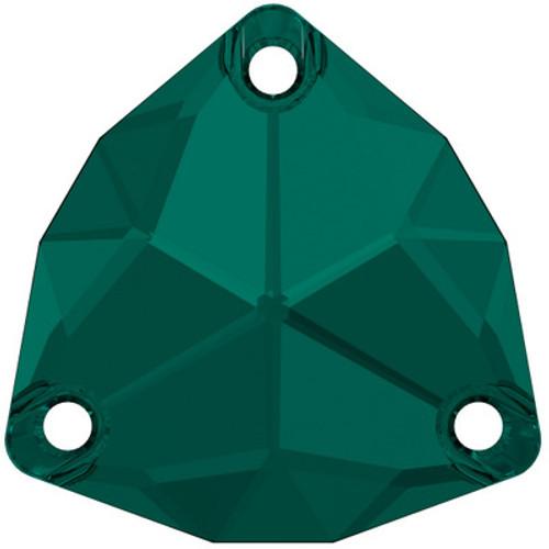 Swarovski 3272 20mm Trilliant Sew On Stones Emerald