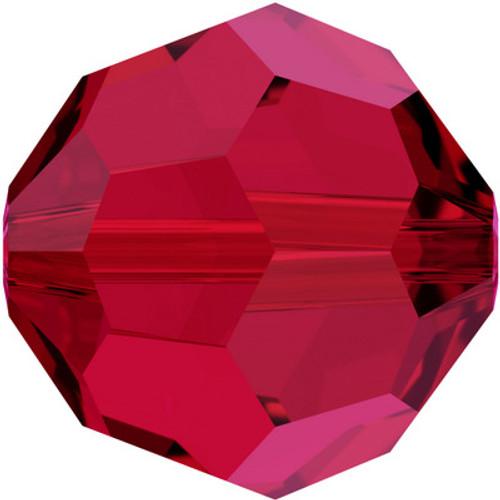 Swarovski 5000 8mm Round Beads Scarlet
