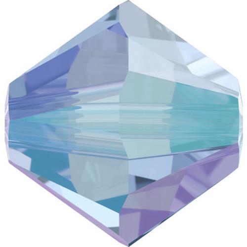 Swarovski 5328 4mm Xilion Bicone Beads Light Sapphire Shimmer