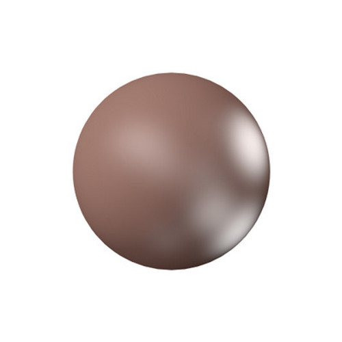 Swarovski 5818 10mm Half-Drilled Pearls Crystal Velvet Brown Pearl