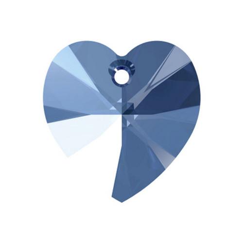 Swarovski 6228 18mm Xilion Heart Pendants Light Sapphire