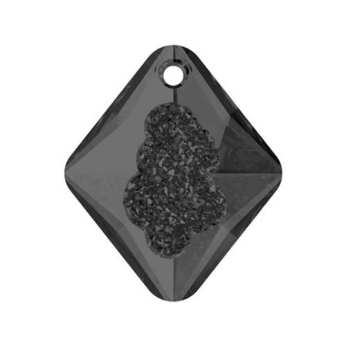 Swarovski 6926 26mm Growing Crystal Rhombus Pendants Crystal Silver Night