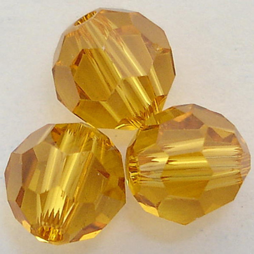 Swarovski 5000 4mm Round Beads Topaz