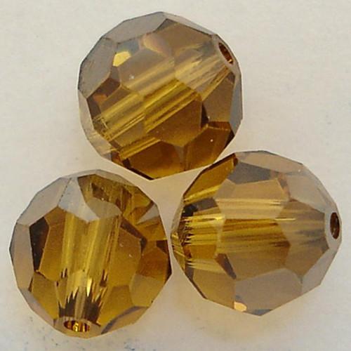 Swarovski 5000 5mm Round Beads Topaz Satin