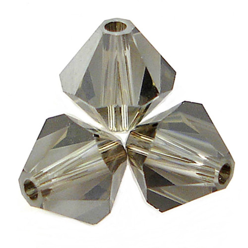 Swarovski 5328 3mm Bicone Beads Black Diamond Satin