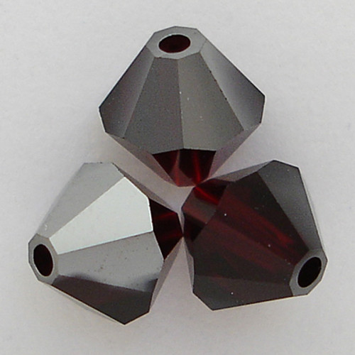Swarovski 5301 3mm Bicone Beads Garnet Satin