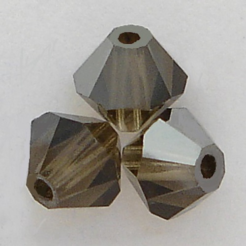 Swarovski 5301 4mm Bicone Beads Smoky Quartz Satin