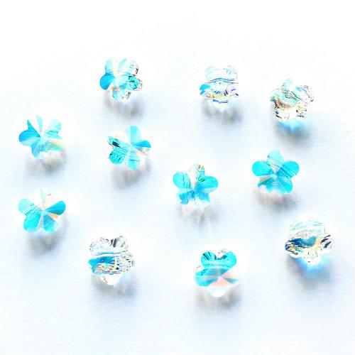 On Sale: Swarovski 5744 6mm Flower Beads Crystal AB (36 pieces)