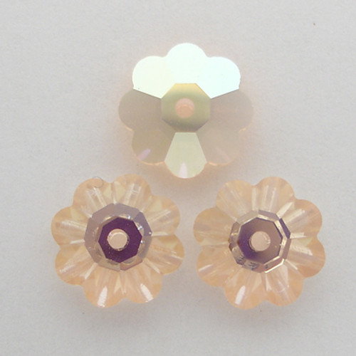 Swarovski 3700 10mm Marguerite Beads Light Peach AB