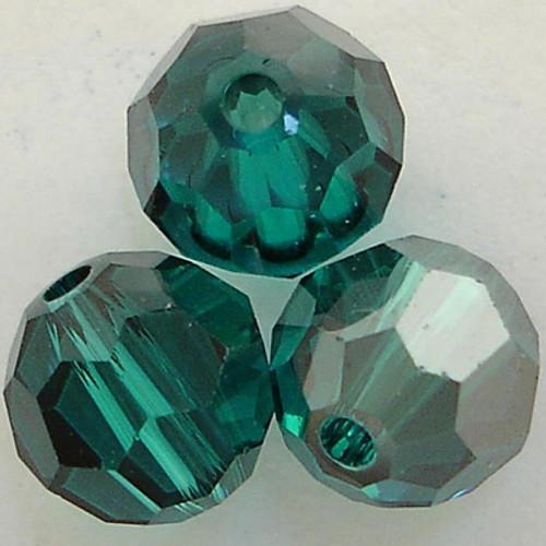 Swarovski 5000 6mm Round Beads Blue Zircon Satin  (360 pieces)