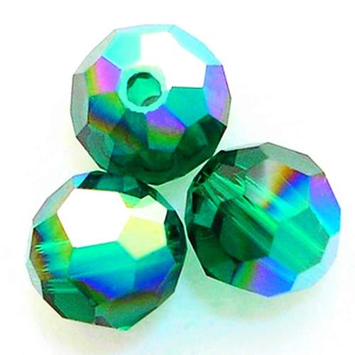 Swarovski 5000 4mm Round Beads Emerald AB  (72 pieces)