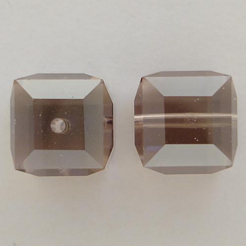 Swarovski 5601 10mm Cube Beads Light Amethyst Satin