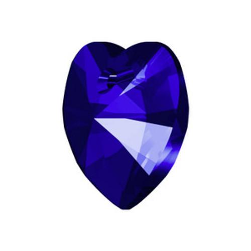 Swarovski 6228 18mm Xilion Heart Pendants Majestic Blue  Pendants