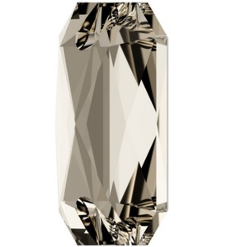 Swarovski 3252 14mm Emerald Cut Sew On Stones Crystal Silver Shade  Sew On Stones