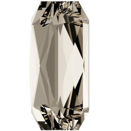 Swarovski 3252 20mm Emerald Cut Sew On Stones Crystal Silver Shade  Sew On Stones