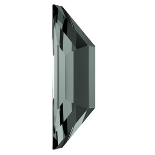 Swarovski 2772 8.6mm Trapeze Flatback Black Diamond  Flatbacks