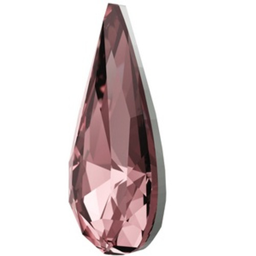 Swarovski 4322 10mm Teardrop Fancy Stones Crystal Antique Pink  Fancy Stones