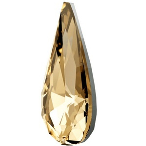 Swarovski 4322 22mm Teardrop Fancy Stones Crystal Goldden Shadow  Fancy Stones