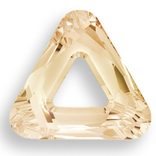 Swarovski 4737 14mm Triangle Beads Crystal Golden Shadow