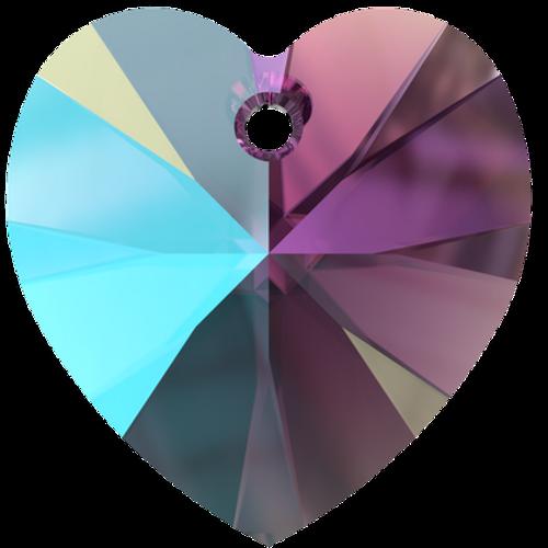 Swarovski 6228 10mm Xilion Heart Pendants Amethyst Shimmer (288  pieces)