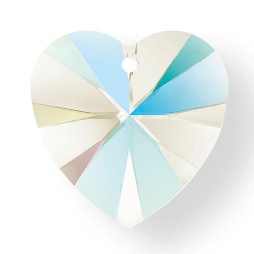 Swarovski 6228 18mm Xilion Heart Pendants Crystal Shimmer (72  pieces)