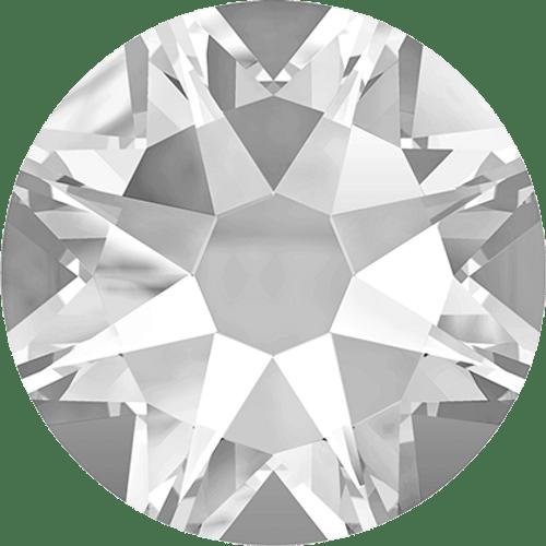 Swarovski 2028 10ss(~2.75mm) Xilion Flatback Crystal    Hot Fix