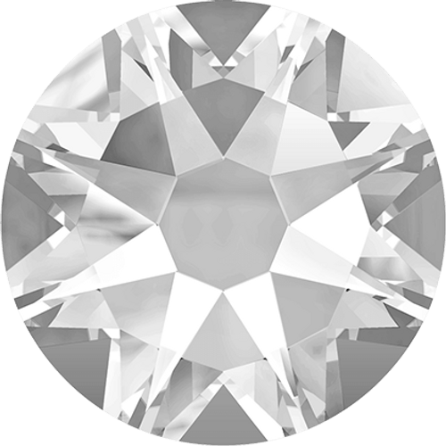 Swarovski 2028 8ss(~2.45mm) Xilion Flatback Crystal    Hot Fix