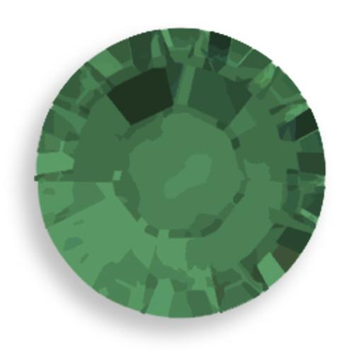 Swarovski 2028 20ss(~4.7mm) Xilion Flatback Palace Green Opal  Hot Fix