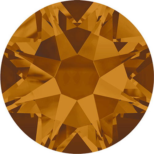 Swarovski 2058 16ss(~3.90mm) Xilion Flatback Crystal Copper