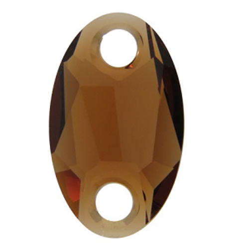 Swarovski 3231 28x17mm Oval Sew On Smoked Topaz