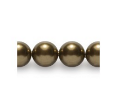Swarovski 5810 12mm Round Pearls Antique Brass