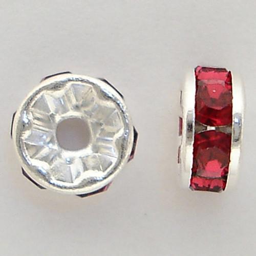 Swarovski 5820 4mm Rhinestone Rondelles Ruby