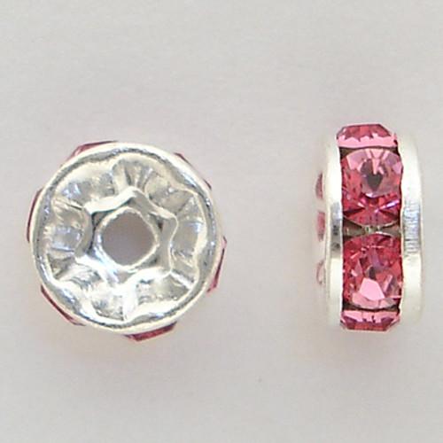 Swarovski 5820 5mm Rhinestone Rondelles Rose
