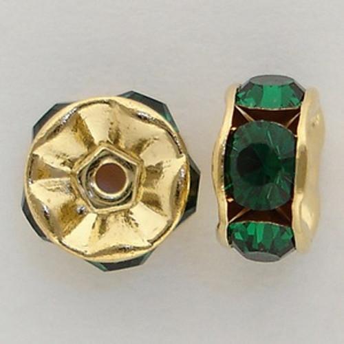 Swarovski 5820 6mm Rhinestone Rondelles Emerald
