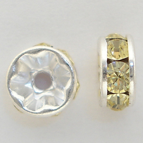 Swarovski 5820 6mm Rhinestone Rondelles Light Colorado Topaz