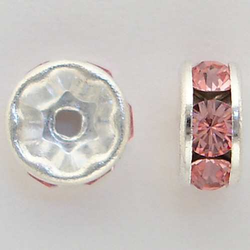 Swarovski 5820 6mm Rhinestone Rondelles Light Rose