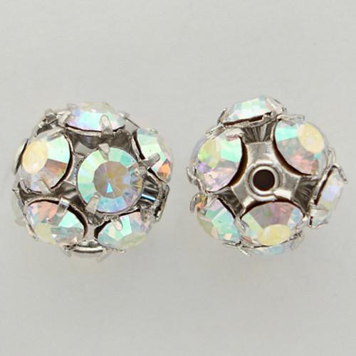 Swarovski 5830 10mm Pave Filigree Balls Crystal AB
