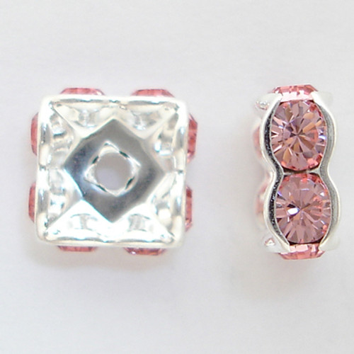 Swarovski 5920 8mm Squaredelles Light Rose