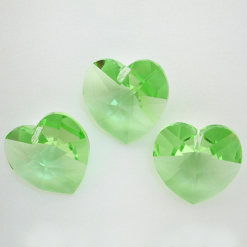 On Hand: Swarovski 6228 18mm Xilion Heart Pendants Peridot  (3 pieces)