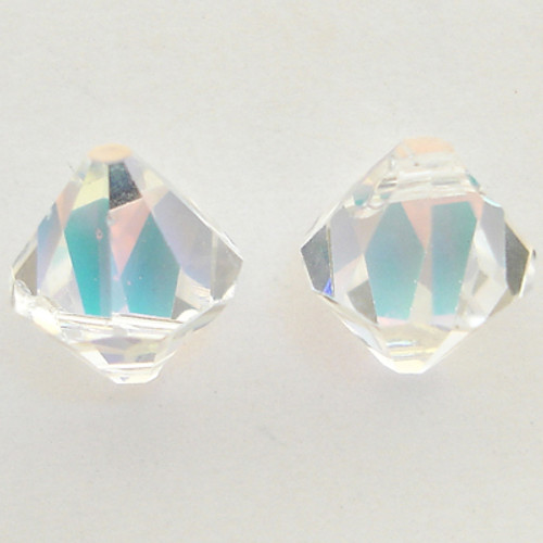 On Hand: Swarovski 6328 6mm Top-drilled Bicone Crystal AB (36 pieces)