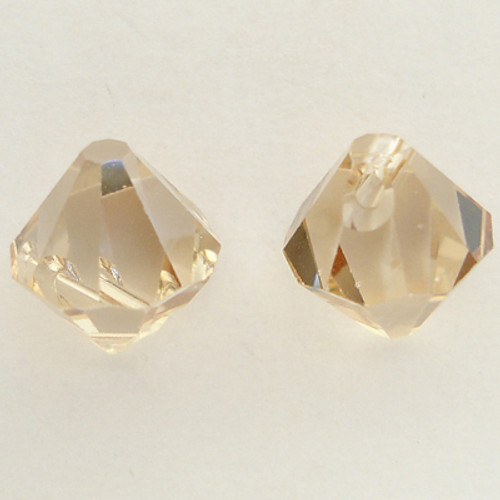 Swarovski 6301 8mm Top-drilled Bicone Crystal Golden Shadow