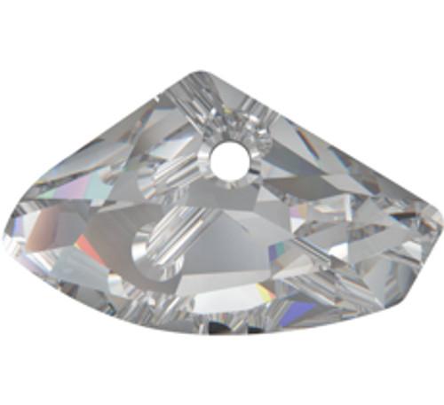 Swarovski 6657 23x39mm Galactic Horizontal Pendant Crystal Silver Shade