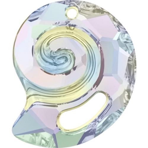 On Hand: Swarovski 6731 28mm Sea Snail Pendants Crystal AB (1 piece)